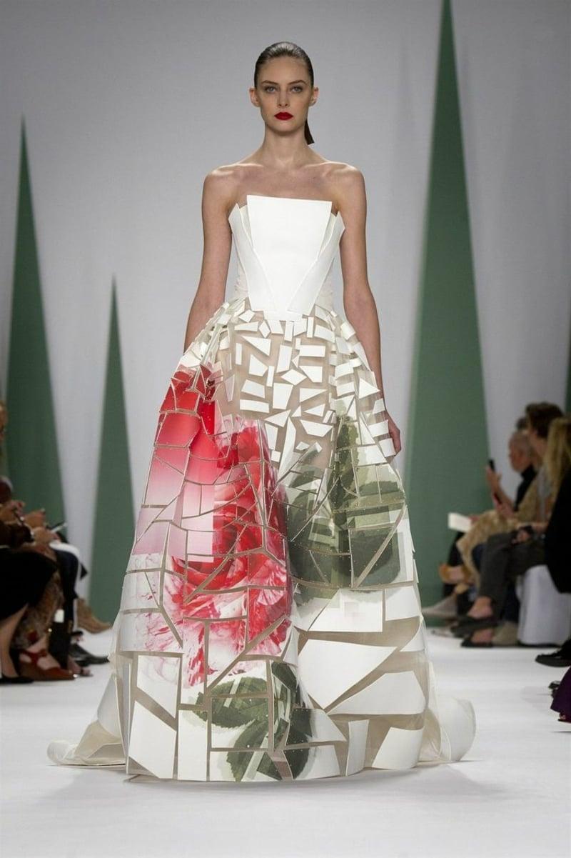 geometrische Motive Braut Mode