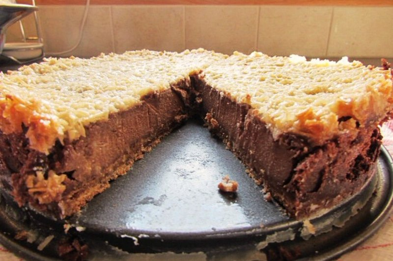 Chocolate Banana Coconut Cheesecake vegane torten
