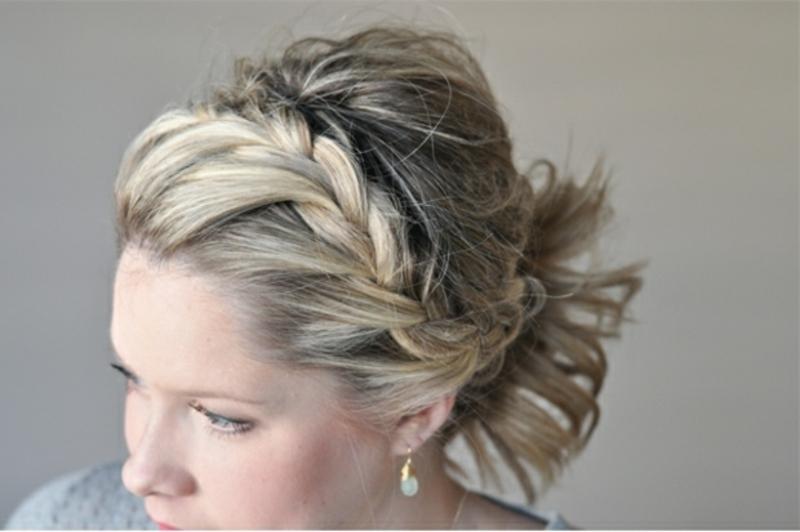 Flechtfrisur mittellange Haare
