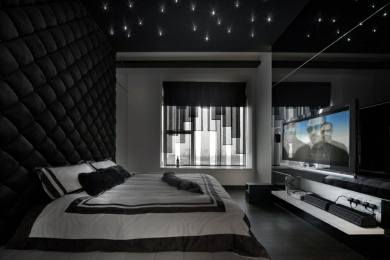 sternenhimmel schlafzimmer aufkleber top wandtattoo. Black Bedroom Furniture Sets. Home Design Ideas