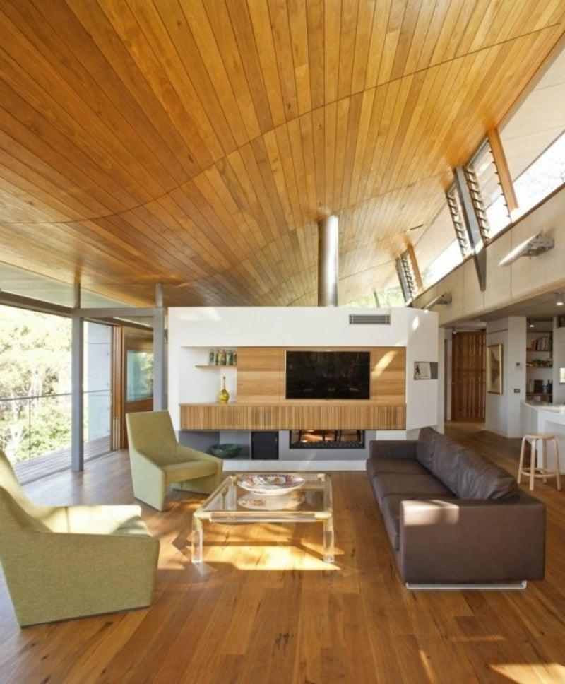 Decke Holzverkleidung Wohnzimmer