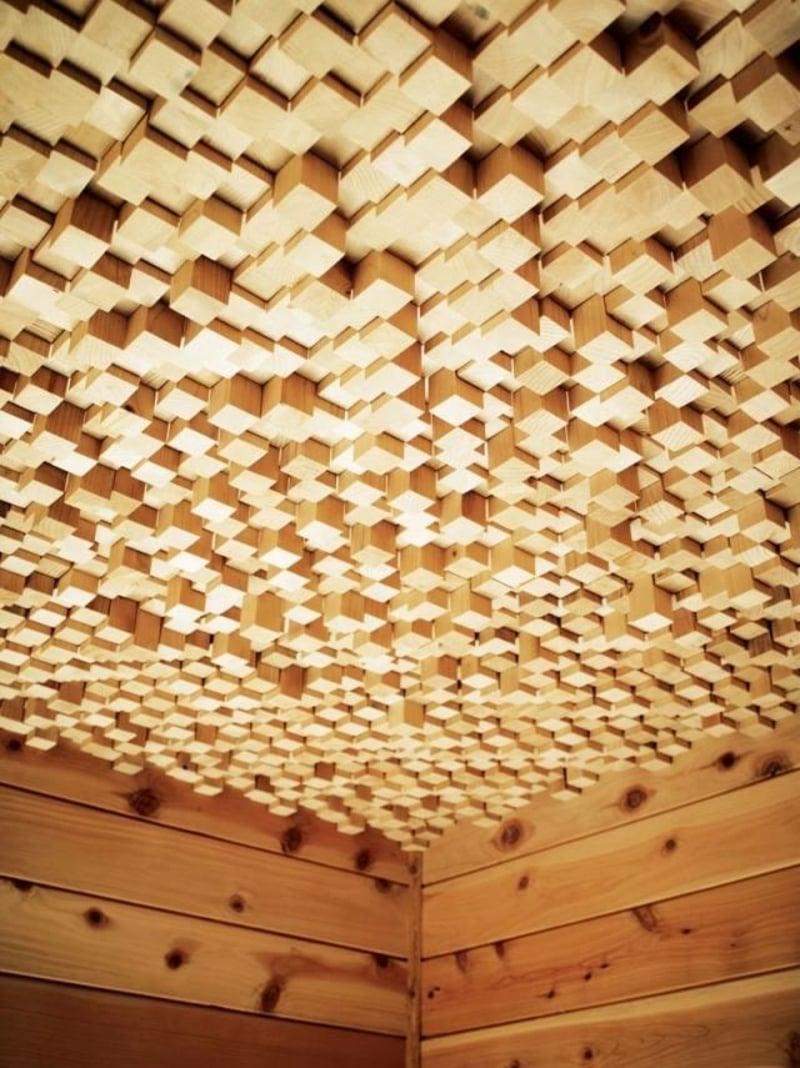 Holzpaneelen dreidimensionalen Effekt
