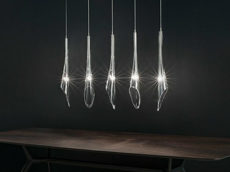 identische designer pendelleuchte aus glas