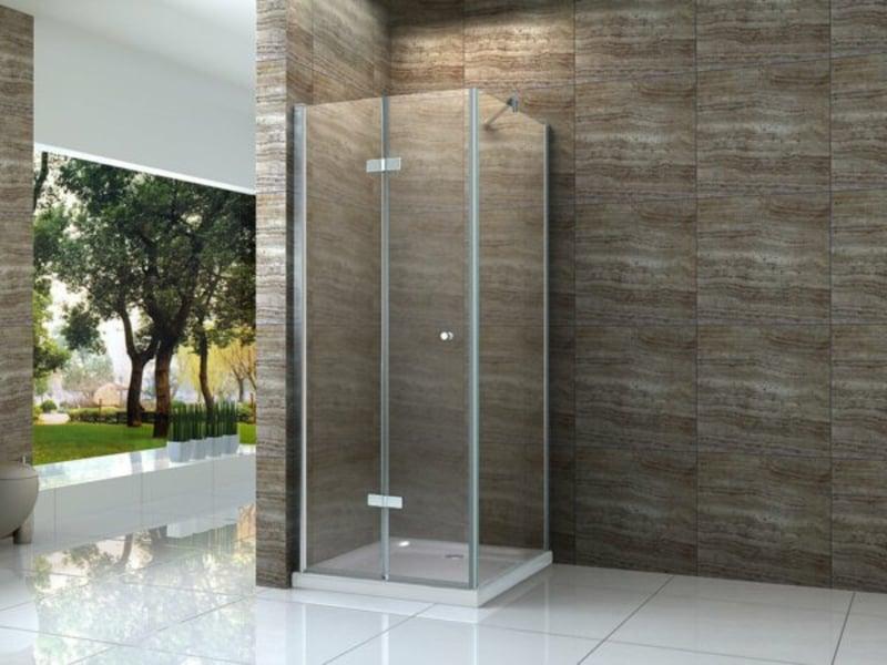 moderne glasduschkabine in der badezimmergestaltung