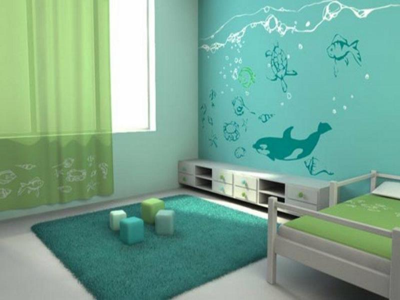 grüne nuancen im jungenzimmer