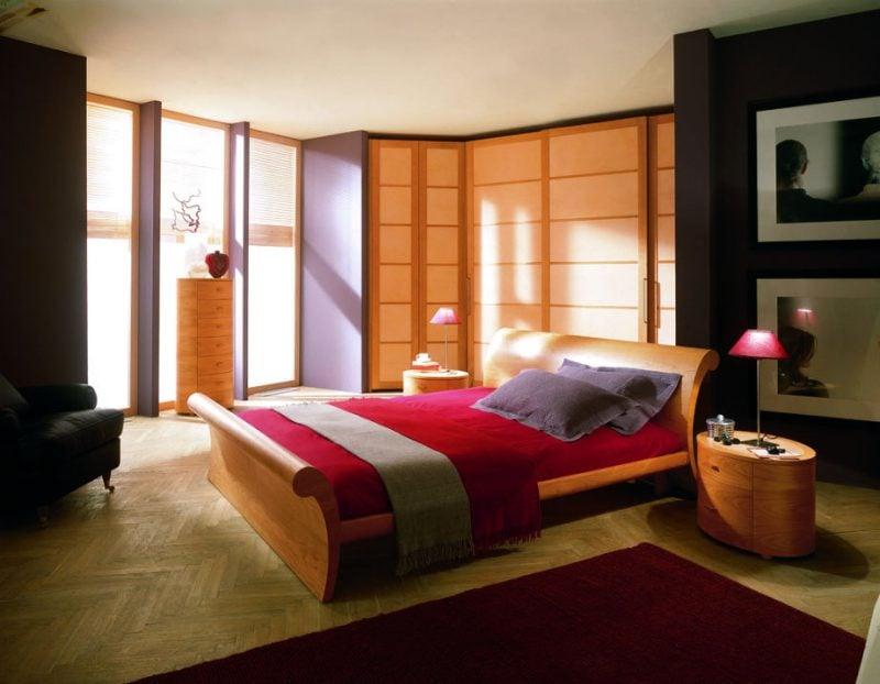 interessantes Schlafzimmer Feng Shui
