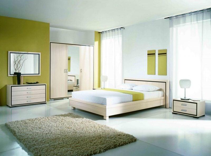 sanfte Wandfarben Schlafzimmer nach Feng Shui