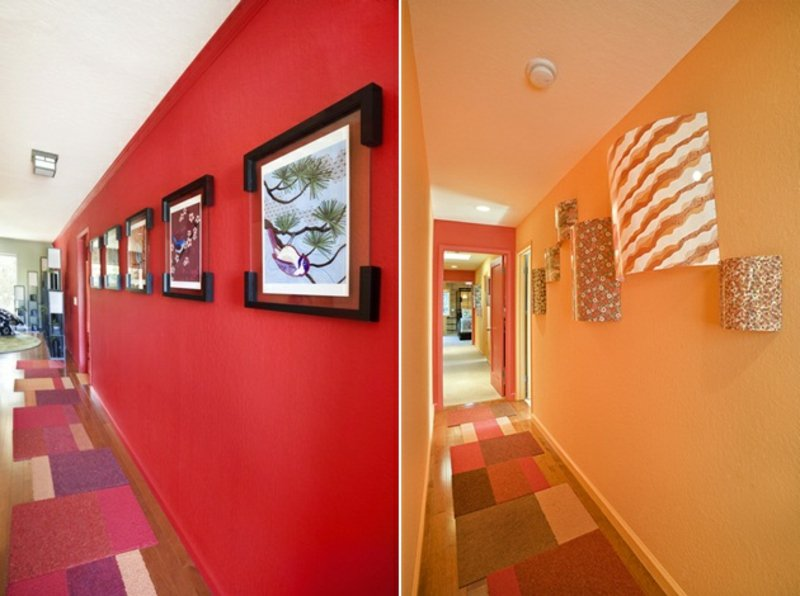 40 ideen f r kreative farbgestaltung im flur - Flurgestaltung farbe ...