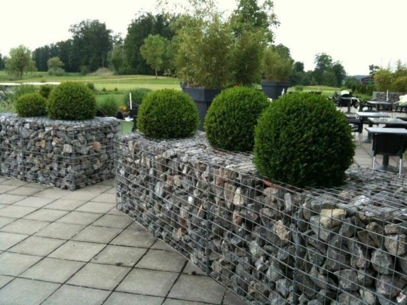 Kreative Gartengestaltung Gabionen