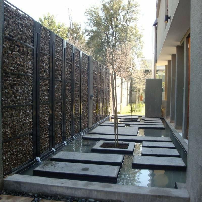 Dekorierung des Gartens Gabionenzaun Stein