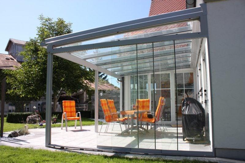 Glassdach Terrasse