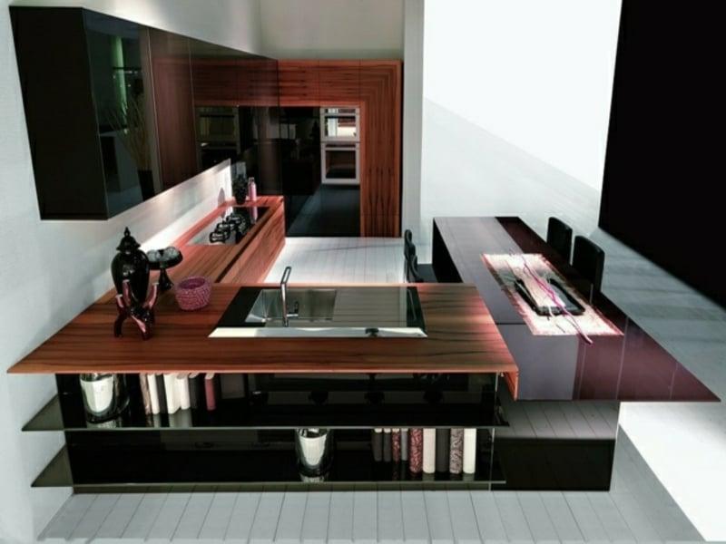 moderner glanz auf der kücheninsel