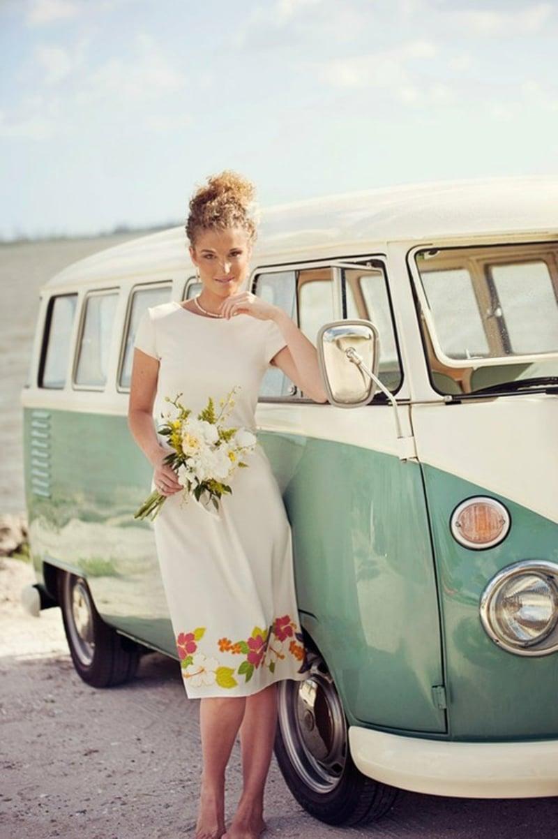 ausgefallene Brautkleider florale Motive