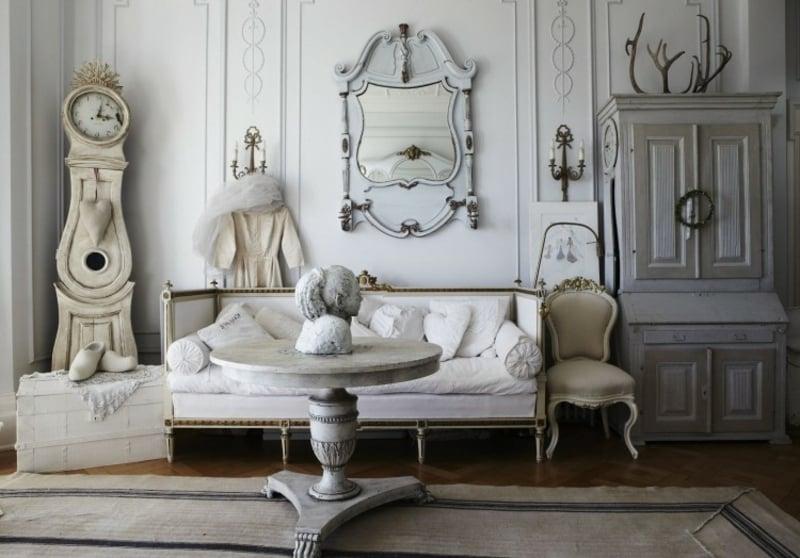 Barock Möbel Wohnzimmer im Weiss