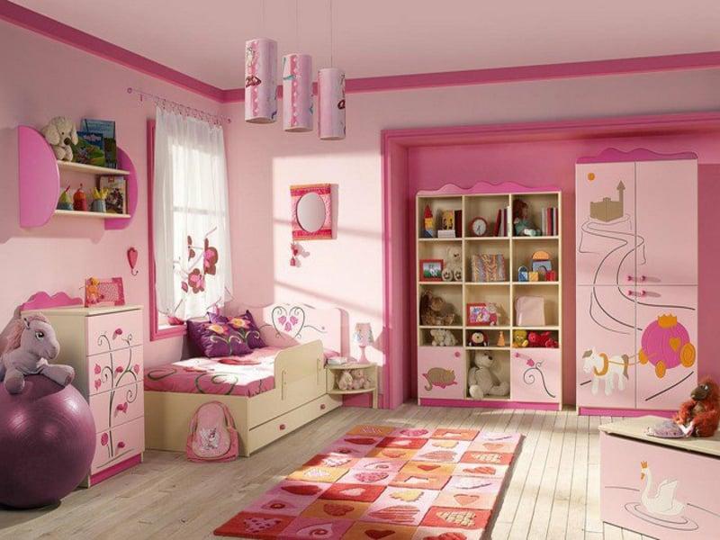 helle rosa farbe im mädchenzimmer
