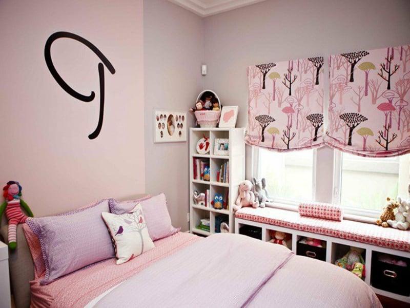 ferbgestaltung inrosa und lila im kinderzimmer