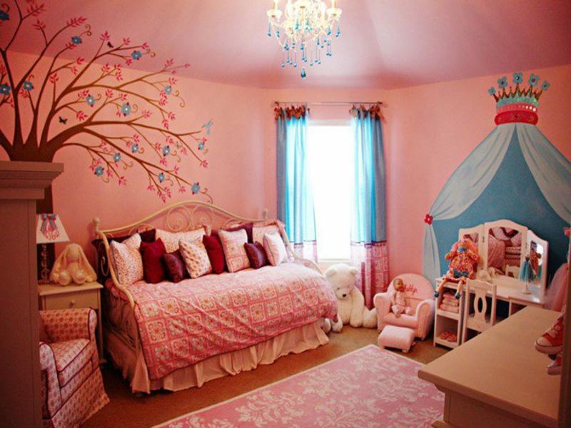 moderne rosa nuancen im kinderzimmer