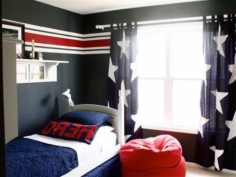 drei hauptfarben im jungenzimmer