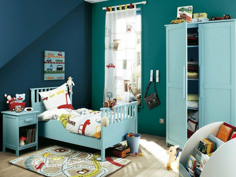 stilvolle fargbestaltung in blau und grün