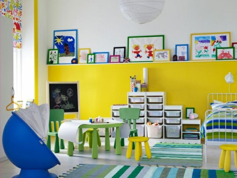 Kinderzimmer im Gelb und Blau