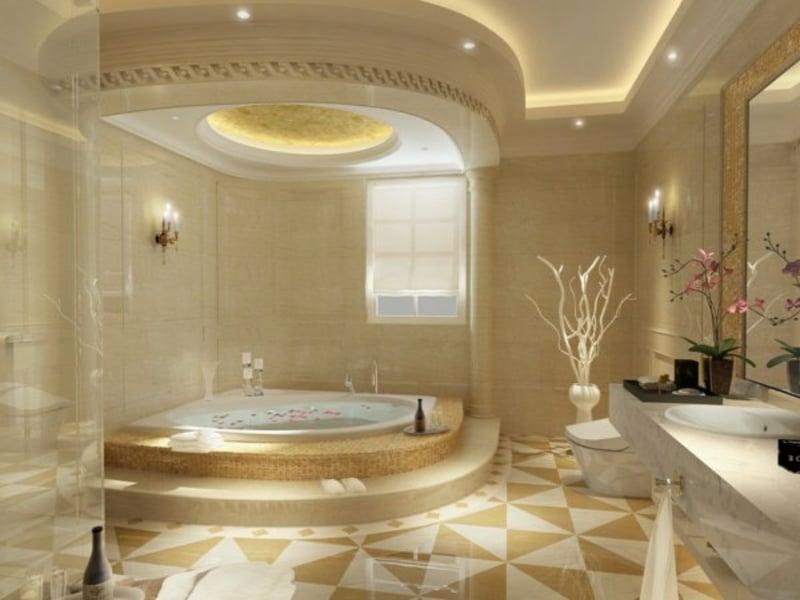 luxus badbeleuchtung im interieur