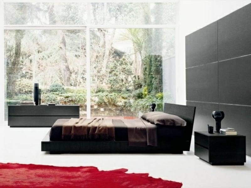modernes rotesteppich im luxus schlafzimmer