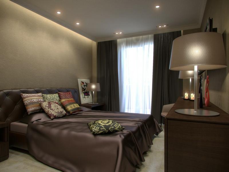 Schlichte Indirekte Beleuchtung Im Luxus Schöafzimmer