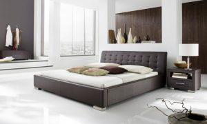 designer braune paneele im luxus schlafzimmer