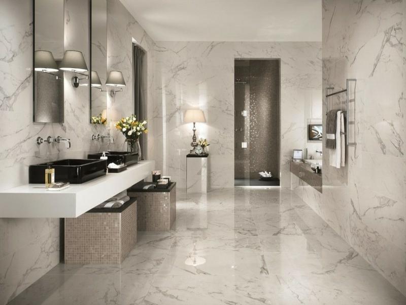 wunderschöne klassische marmorfliesengestaltung