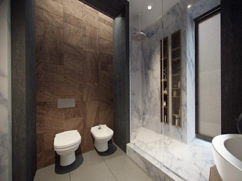 klassische badgestaltung mit marmorfliesen