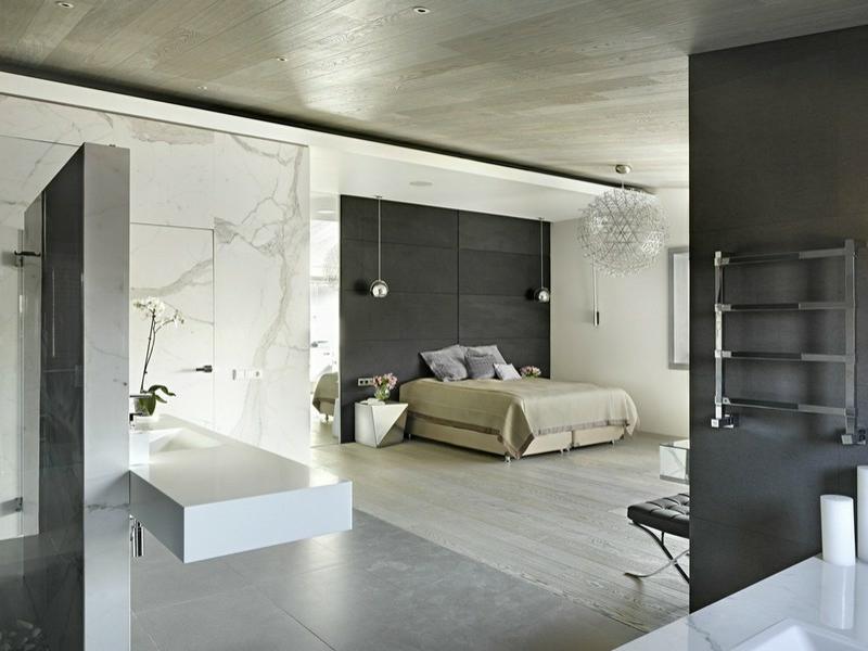 helle marmorfliesen im schlafzimmer