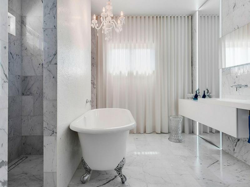 moderne designer marmorfliesen im bad