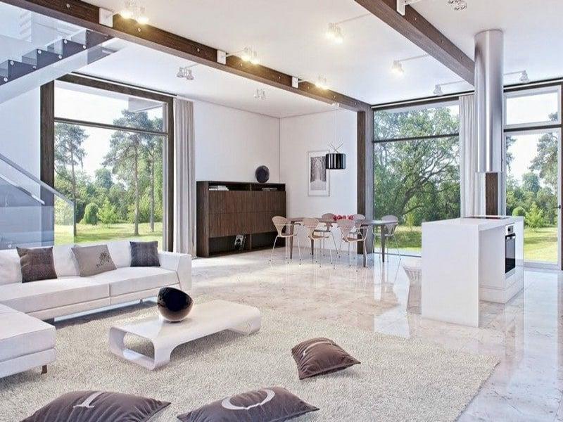 moderne designer marmorfliesen im wohnzimmer