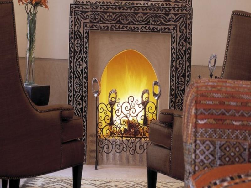 moderner marokanischer kamin