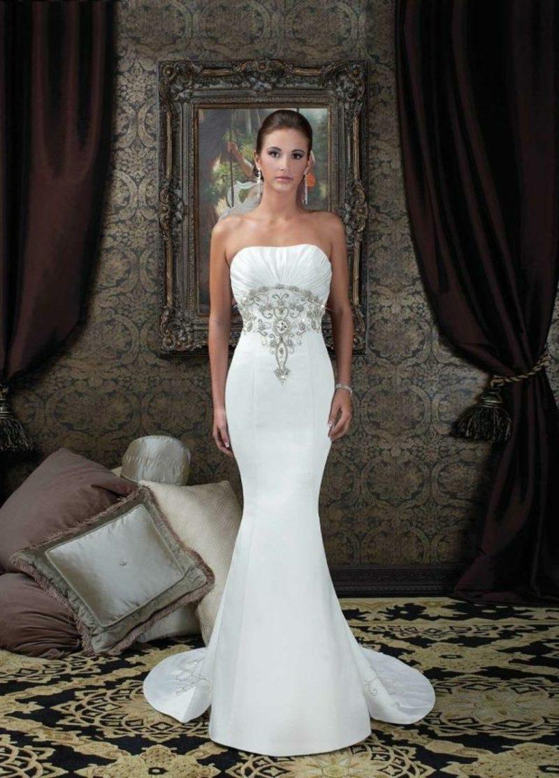 schulterfreies Hochzeitskleid