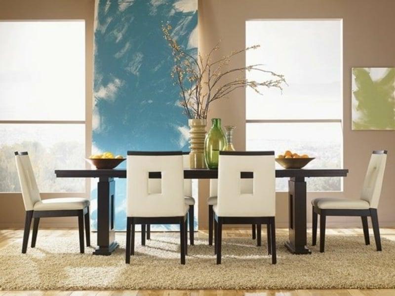 moderne esszimmermöbel auf dem 7traumteppich