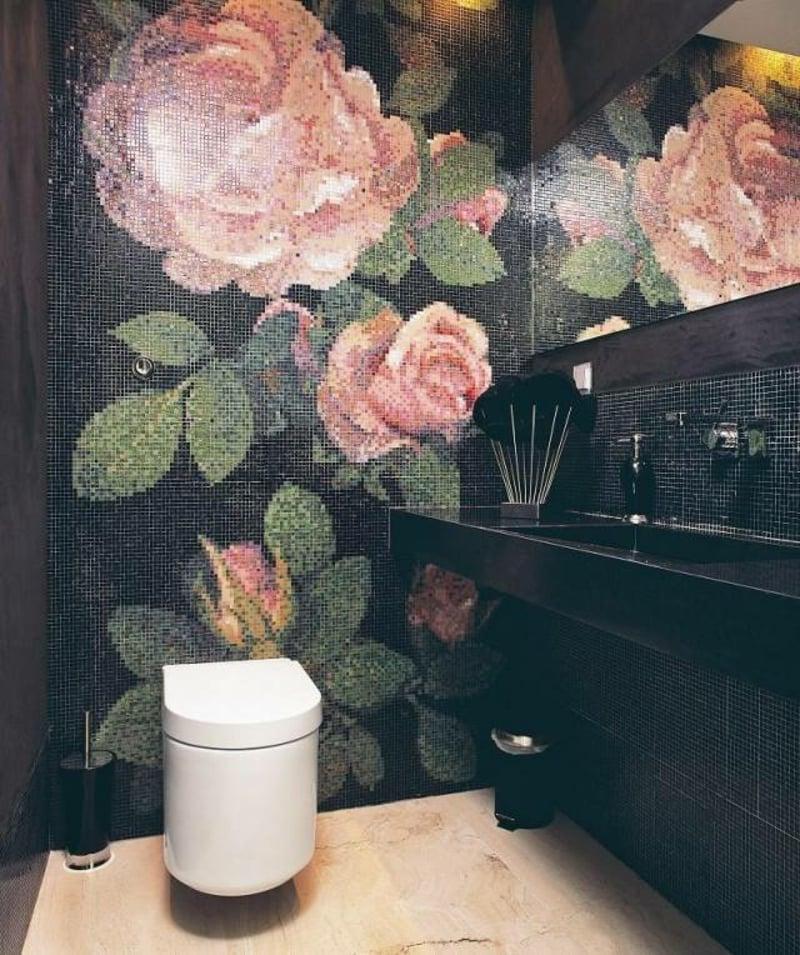 Badgestaltung Mosaikfliesen als Kunstwerk