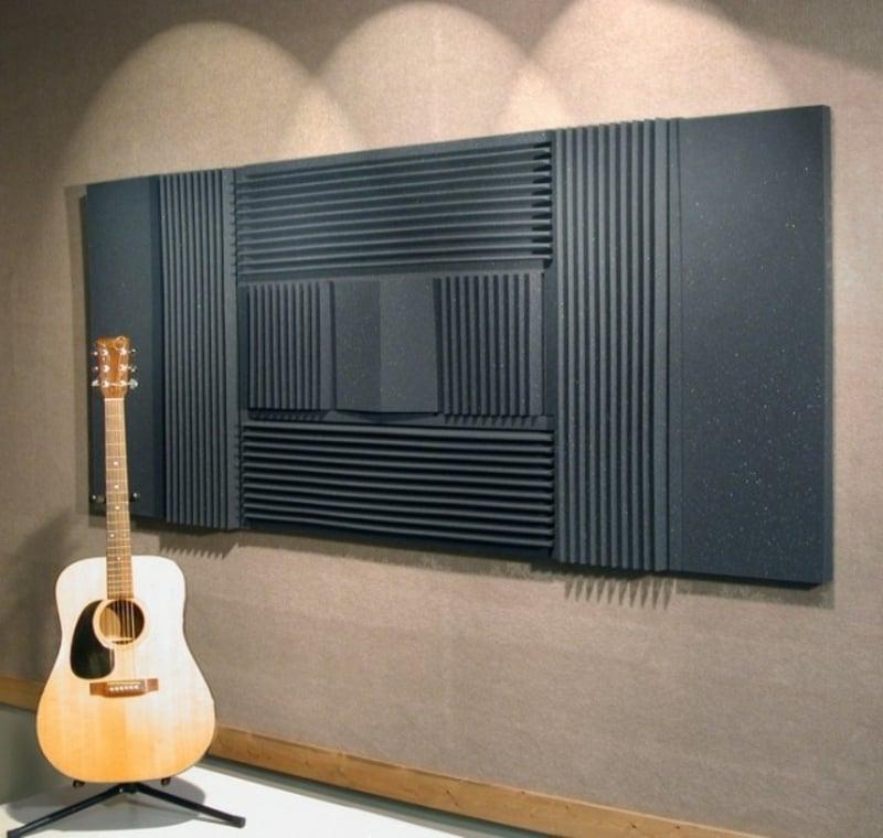 Wandverkleidung Akustikplatten Musikstudio