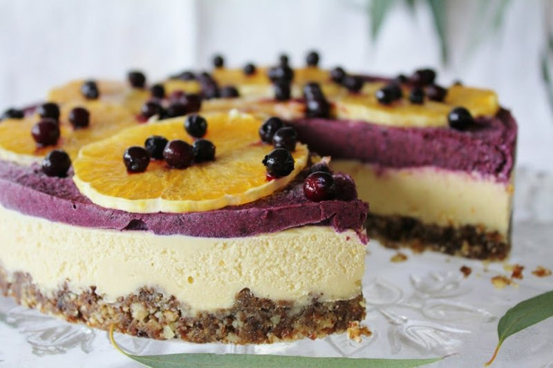 Orange & Blueberry Cheesecake