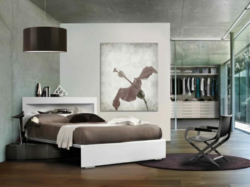 begehbares eckbett im luxus schlafzimmer