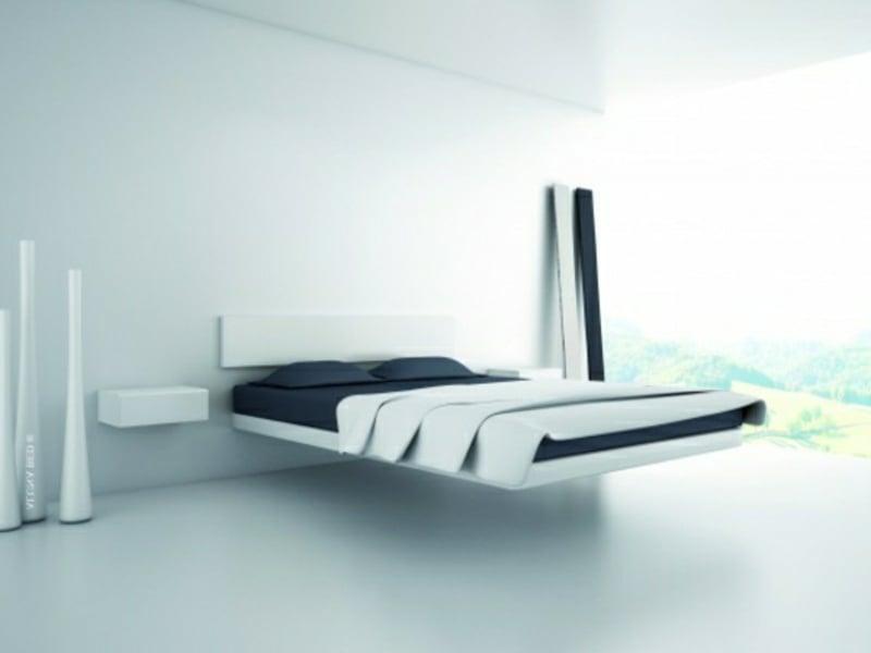 luxus schlafzimmer mit minimalistischem modernem bett