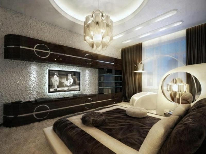 designer schöne wandgestaltung im luxus schlafzimmer