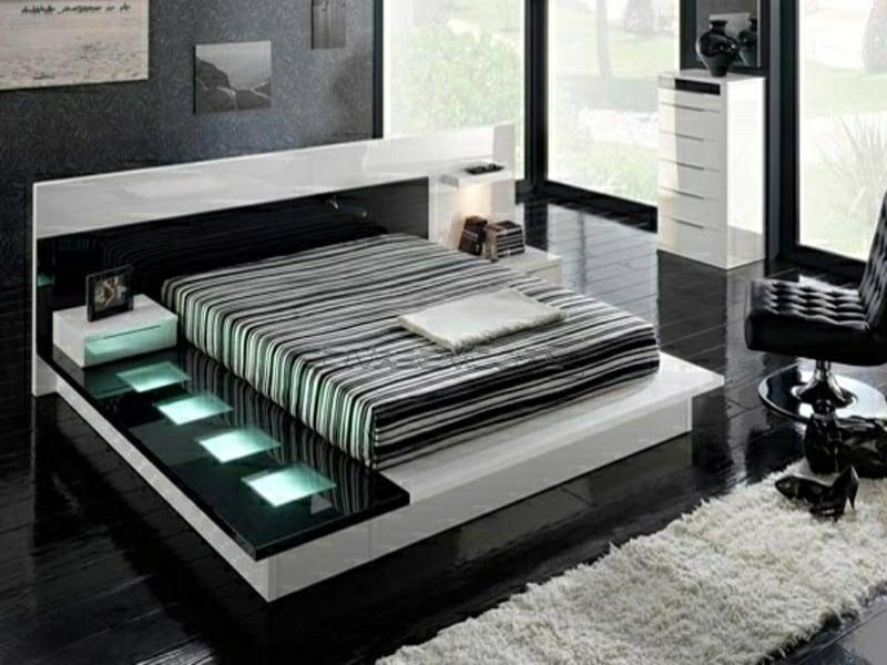 luxus schlafzimmer mit moderner led beleuchtung