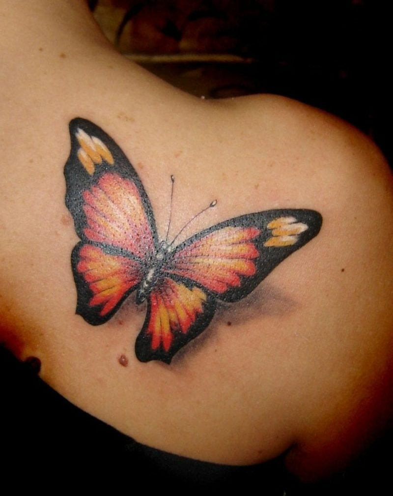 Monarchfalter Schmetterling Tattoo