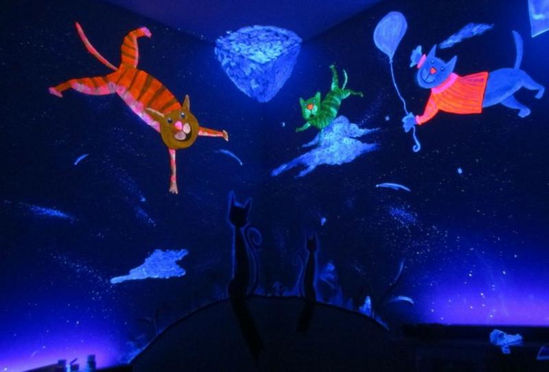 fluoreszierende Farben Kinderzimmerdekoration