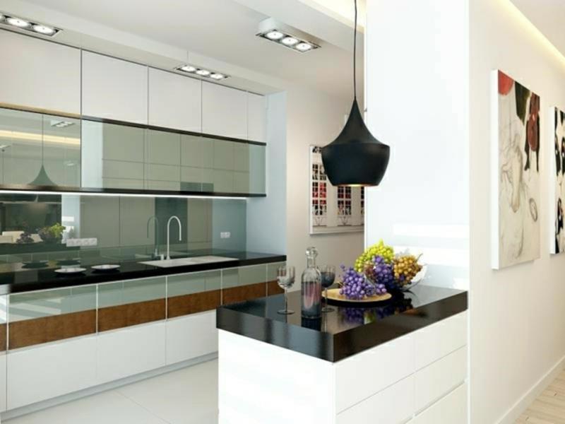 designer kücheninsel in schwarz und weiß