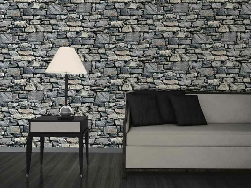 Weise steintapete interior design und m bel ideen for Tapete steinoptik abwaschbar