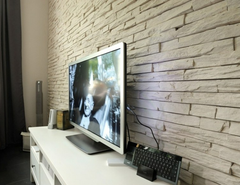 Wandverkleidung Wohnzimmer Verblendsteine
