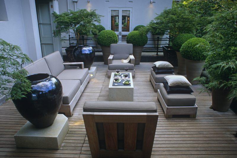 Schattenpflanzen Terrasse
