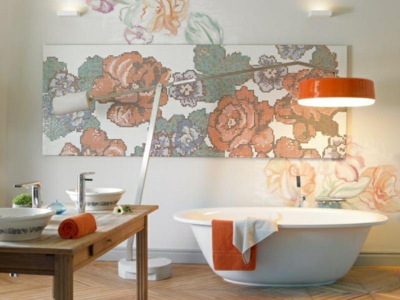 kreative Wandgestaltung mit Mosaikfliesen